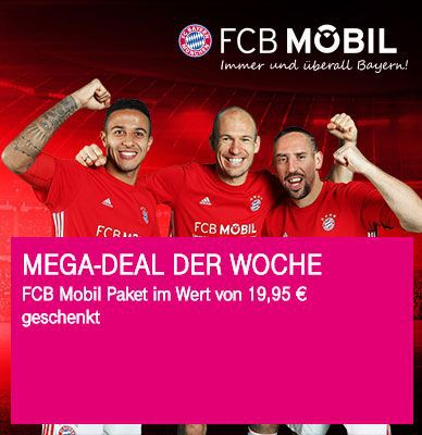 Nur für Telekom Kunden: FCB Mobil Paket geschenkt (Wert: 19,95€)