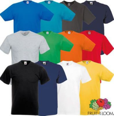 Fruit of the Loom Valueweight   5er Pack V Neck Herren T Shirts für 14,99€
