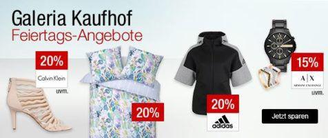 Galeria Kaufhof Sonntagsangebote   z.B. 20% Rabatt auf Handtaschen, Töpfe, Geschirr und Co., Roseweine und mehr ...