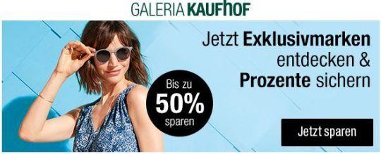 Galeria Kaufhof: Exclusiv Marken Sale mit bis zu 50% Rabatt   günstige Sport und Fashion Artikel bis Mitternacht!