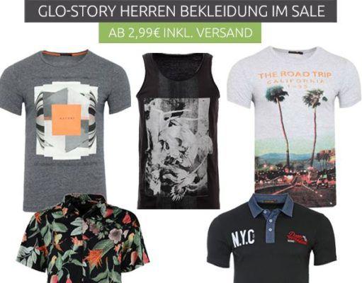 Glo Story Herren Summer Sale Shirts & Polos für 2,99€   Hemden für 9,99€