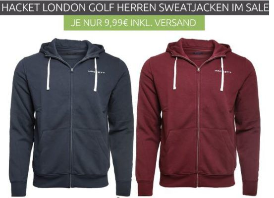 Pullover & Sweater Sale bei Outlet 46   z.B. HACKETT LONDON GOLF Kapuzenjacke statt 28€ für 9,99€