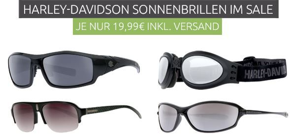 Harley Davidson Sonnenbrillen statt 49€ für nur je 19,99€