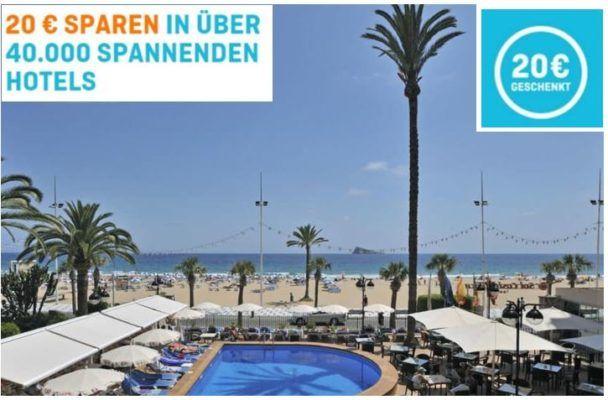 20€ Hotel.de Gutschein mit 99€ MBW oder heute mit 10% Rabatt