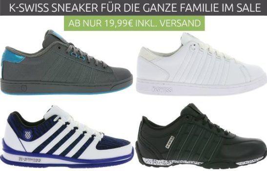 K SWISS Damen und Herren Sneaker Sale   Restgrößen für  19,99€