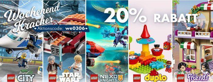 Karstadt Kracher mit z.B. 20% auf LEGO: duplo, Star Wars, City, Friends & Playmobil und vieles mehr