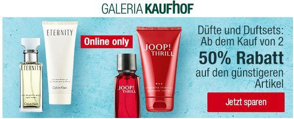 Galeria Kaufhof mit 50% Rabatt auf den zweiten Artikel aus Düfte und Duftsets