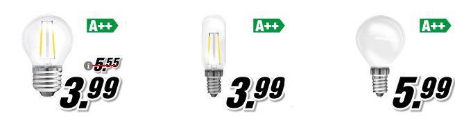 Media Markt LED Aktion: 3 LEDs für 6,66€ oder bis 6 LEDs für 12,66€