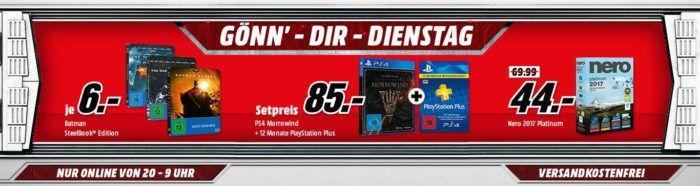 The Elder Scrolls Online: Morrowind [PS4, XBox one] Bundle z.B. mit Controller für 79€   uam. im Media Markt Dienstag Sale