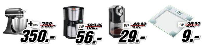 Media Markt Marken Sparen: günstige Geräte von Beurer, KitchenAid, Melitta und Sodastream