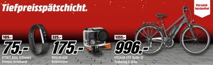 Media Markt Mega Tiefpreisspätschicht   günstige Smartphones + Wearables, E Bikes + Boards, Foto Zubehör, Grills, Haushaltswaren ...