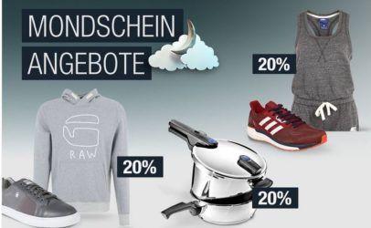 20% Rabatt auf G Star RAW, REPLAY, SCOTCH & SODA uvm.   Galeria Kaufhof Mondschein Angebote