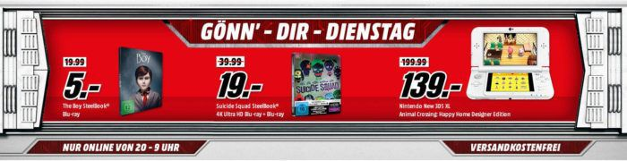 New Nintendo 3DS XL Animal Crossing: Happy Home Designer Edition für 139€ uam. im Media Markt Dienstag Sale
