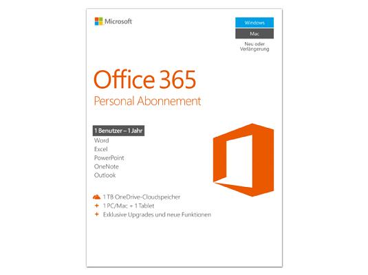 Microsoft Office 365 Personal für 33€ (statt 39€)