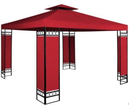 Pavillon Lorca 3x3m mit Dachhaube und Metallgestell für 84,95€