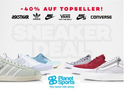 Planet Sports: bis 40% auf Sneaker Bestseller   günstige adidas, Vans, NIKE & Co.