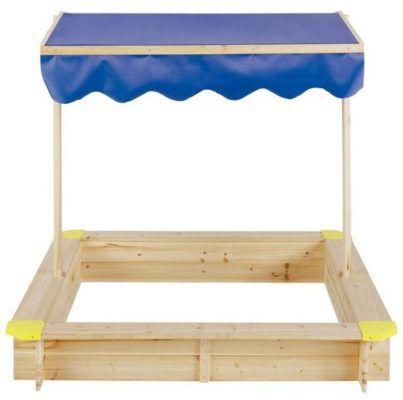 LUISA   120cm Holzsandkasten mit Dach für nur 33,85€