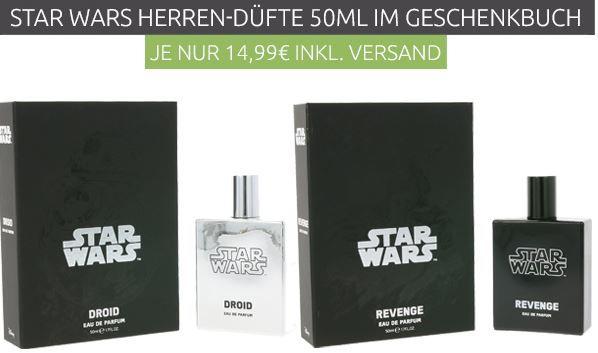 STAR WARS Revenge oder Droids  EAU DE PARFUM in Buchoptik statt 23€ für je 7,99€