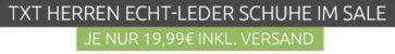 TXT Men   Leder Herren Schuhe für 19,99€ (statt 45€)