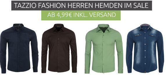 Tazzio Herren Hemden Sale   z.B. Tazzio Formal Langarm Hemd ab 9,99€