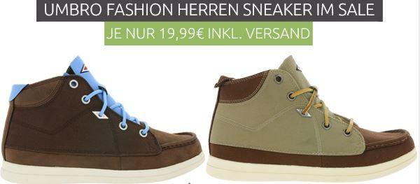 Umbro Herren Sneaker für je 19,99€