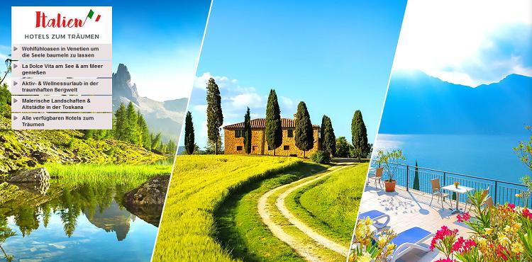 Italien: Hotels zum Träumen   verschiedene Reiseangebote bei Vente Privee