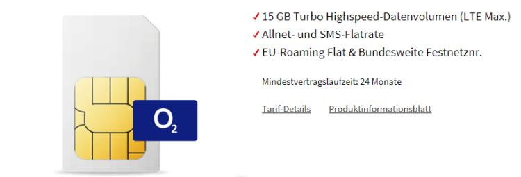 Knaller! o2 Free Allnet mit 15GB LTE für 29,99€ + 300€ Media Markt Gutschein geschenkt
