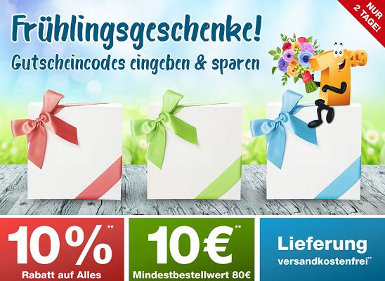 Gutscheine bei Plus.de mit 10€ Rabatt (ab 80€) oder 10% Rabatt oder VSK freie Lieferung