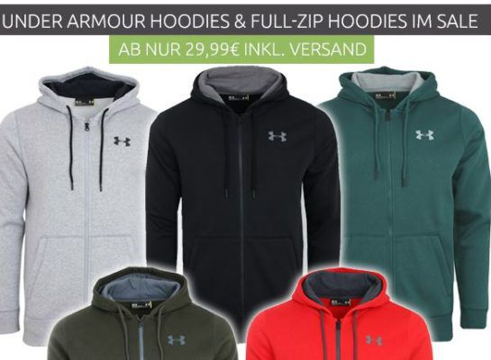 Under Armour Herren Hoodies und Zipper ab 29,99€