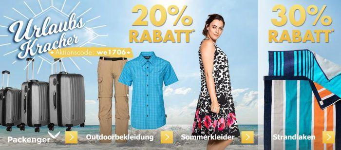 Karstadt Kracher mit z.B. 20% Rabatt auf Duftsets & Düfte, Outdoorbekleidung, Packenger Koffer ...