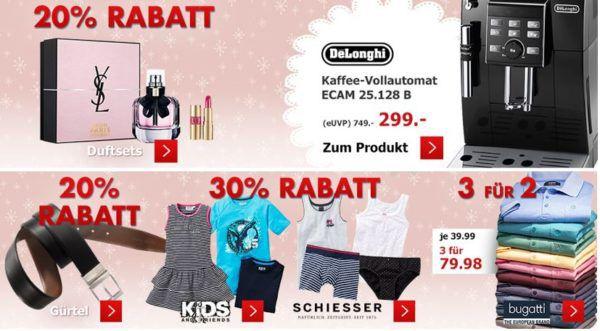 Karstadt: Vor Weihnachts Kracher mit z.B. Spielwaren bis 50% reduziert   20% auf Duftsets und mehr ...