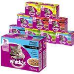 Whiskas 120er Mega Multipack Katzenfutter in verschiedenen Sorten (bis 12Kg) für nur 29,99€