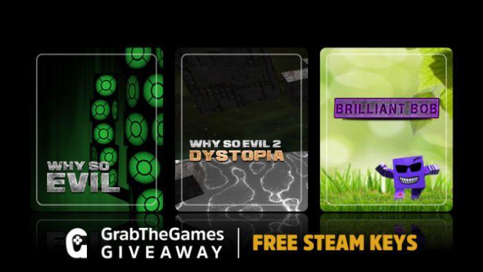 Why So Evil 1, 2 und Brilliant Bob (Steam Keys, Sammelkarten) gratis