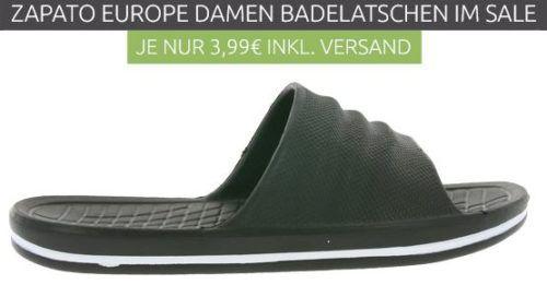 ZAPATO EUROPE Damen Badelatschen in Schwarz oder Pink für je nur 3,99€