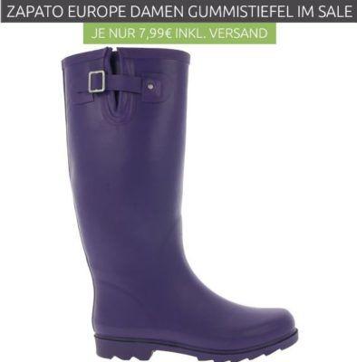 new product 499bd 0ba43 ZAPATO EUROPE Buckle Damen Gummistiefel statt 20€ für nur 4,99€
