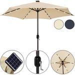 Deuba Sonnenschirm 270 cm mit LED Solar Beleuchtung für 46,71€ (statt 53€)