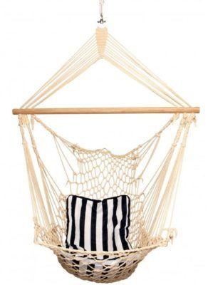 Abhängesessel Maritim inkl. Baumwolle Sitzkissen für nur 15,12€