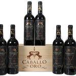 6 Flaschen Caballo de Oro – Valdepeñas Rotwein Gran Reserva in Holzbox für 41,94€