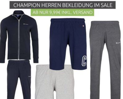 CHAMPION Sale: Herren Shirts, Polos, Sneaker & Co.   z.B. Champion Benz Poloshirt für 9,99€