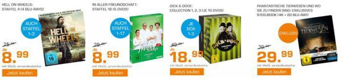 Saturn Weekend Sale: u.a. Dick & Doof Collection für 18,99€   3 Blu rays für 18€