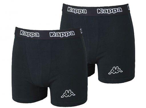 Kappa Herren Boxershort in Schwarz   10er Pack für 23,89€   nur S, M, L!