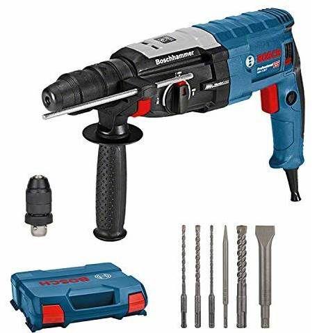 Bosch GBH 2 28 DFV Bohrhammer mit SDS Plus inkl. 6tlg. Bohr Meißel Set in L Case für 198,89€ (statt 244€)