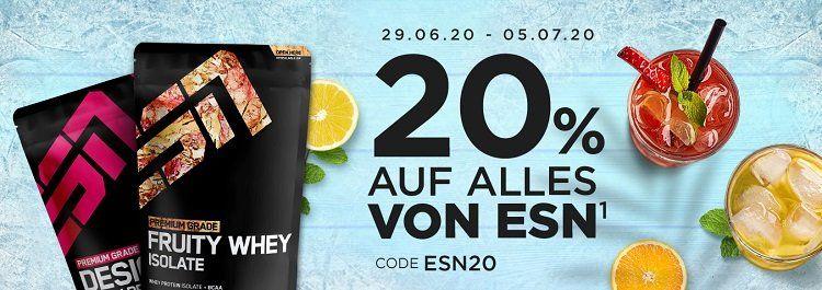 Heute: Fitmart mit 20% Rabatt auf alle ESN Proteine   z.B. Designer Whey ab 14,88€/kg