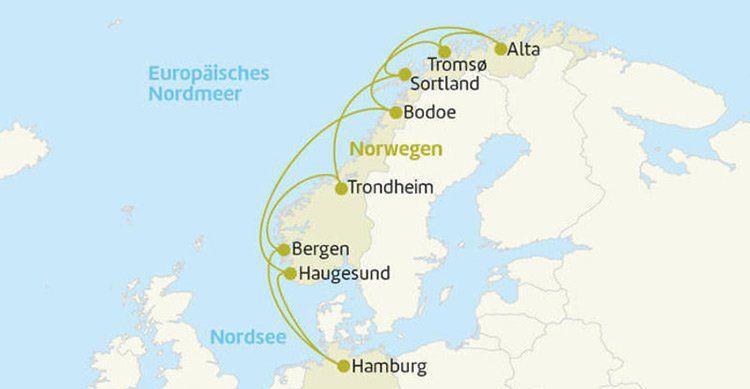 14 ÜN auf der AIDAcara von Hamburg entlang der norweg. Küste inkl. aller AIDA Leistungen ab 1390€ p.P.