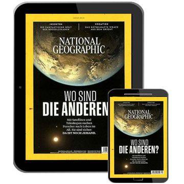 12 Ausgaben National Geographic Abo als E-Paper für 5€ (statt 55€)