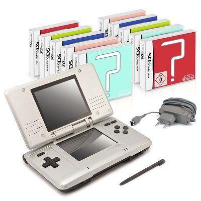 Nintendo DS Lite Handheld Konsole + 10 gratis Spiele für 44,99€