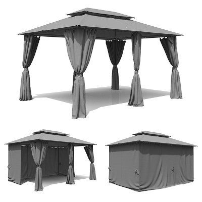 Oskar Pavillon 3x4 m inkl. Seitenwände für 135,92€ (statt 163€)