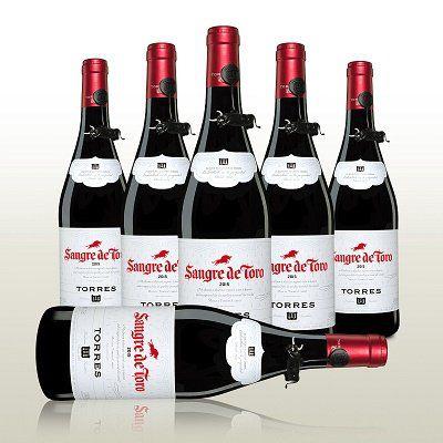 6 Flaschen Rotwein   Sangre de Toro (2015) für 28,56€ (statt 36€)