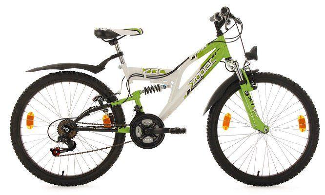 Kinderfahrrad Mountainbike Fully Zodiac   24, 18 Gänge für 158,80€ (statt 185€)