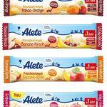 72 Alete Knusperriegel / Früchteriegel (MHD: 31.07.2017) ab 1 Jahr für 14,95€